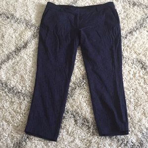 Navy and Black cropped pants